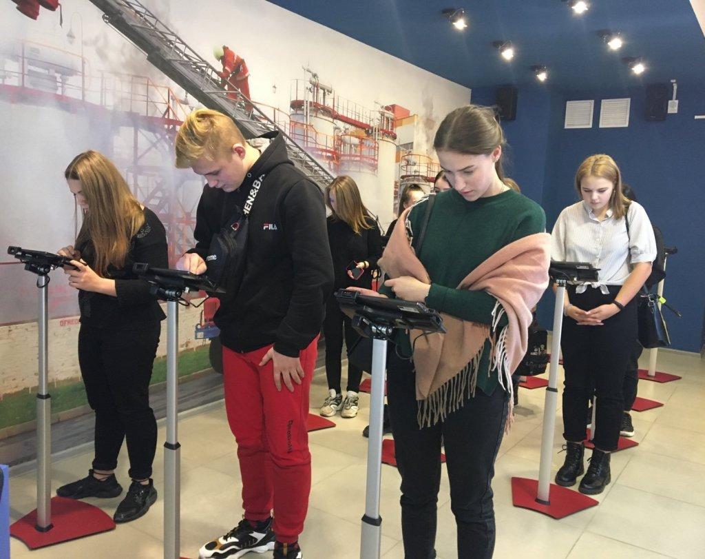 Учащиеся колледжа посетили областной центр безопасности жизнедеятельности