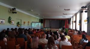 Старший инспектор ГАИ Бобруйска встретился с учащихся колледжа.